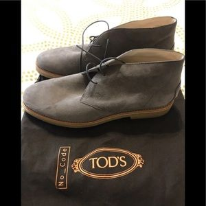 Tods Brown Suede Women's Chuka Boots